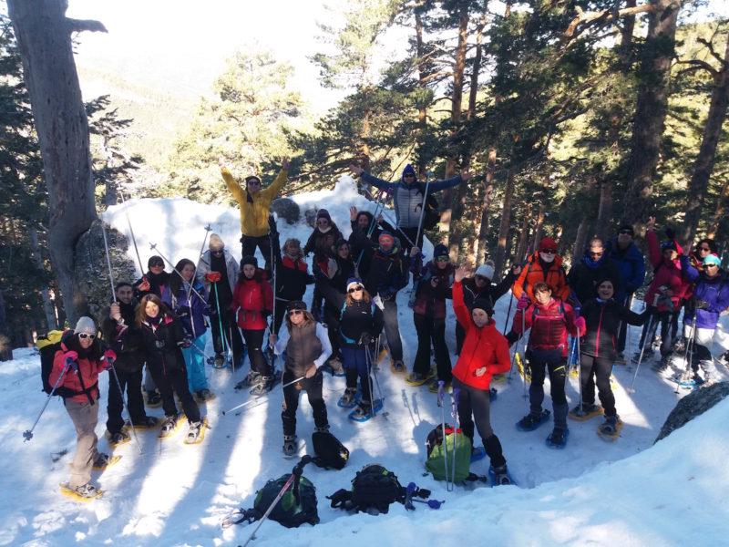 Senderismo en Madrid: Raquetas de nieve